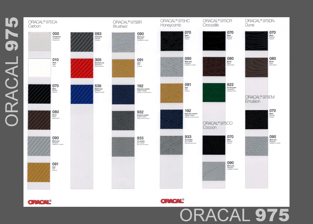 ORACAL 975 Premium Structure Cast | 152cm x 1m