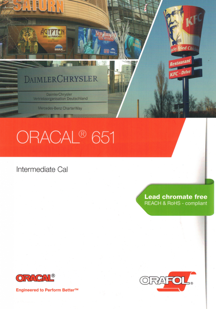 ORACAL 651 Intermediate Cal | Farbkarte